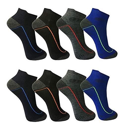 12 pares de calcetines cortos para hombre de algodón 39-42, 43-46 12 pares de patrones 3. 39-42