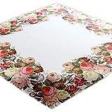 Raebel - Manteles - Diseño de rosas - Primavera de Pascua - Tamaño a elegir - 100% poliéster (110 x 110 cm)