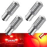 4 unids Rojo 1156 BA15S P21W 5630 33SMD Bombillas LED para automóviles 900LM Luz de freno súper brillante Luces antiniebla traseras Luz de estacionamiento luz de cola de posición 12-30 V 3.6 W