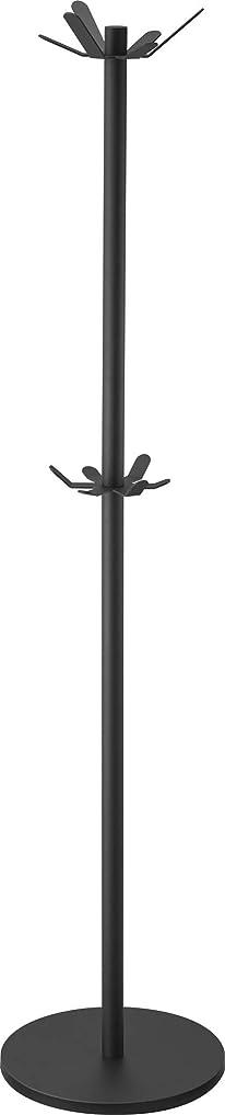 遺跡心配する最も早い山崎実業 ハンガーラック ポールハンガー タワー ブラック 3526