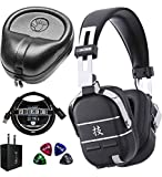 BOSS WAZA-AIR Wireless Amplifier System Bundle with Slappa Full-Sized Headphone Case, Blucoil USB Wall Adapter, 3-FT USB 2.0 Type-A Extension Cable, and 4-Pack of Celluloid Guitar Picks