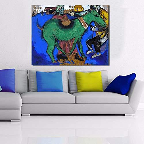 nobrand Esel Gemälde auf Leinwand Moderne Wandbilder für Wohnzimmer Wohnkultur -40x60cm Kein Rahmen