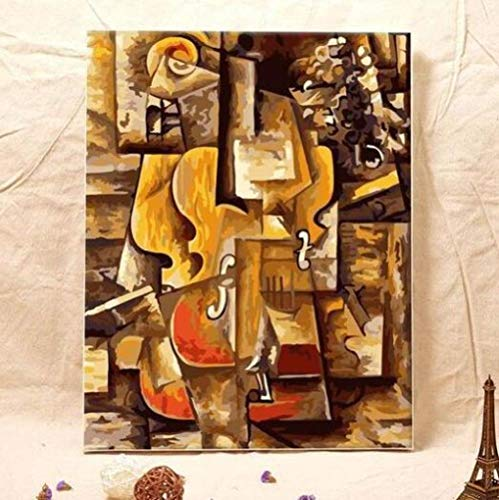 thfff Pablo Picasso Violine Malen Nach Zahlen DIY Ölgemälde Kunst Wohnzimmer Wanddekoration Landschaft Abbildung Tier Blume Cartoon