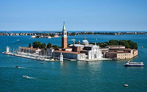 LFNSTXT Rompecabezas para adultos, 1000 piezas, de Italia, Isla de San Marco Venecia, para adultos, familias y niños. Juguete educativo para decoración del hogar (70 x 50 cm)