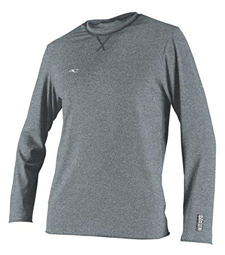 O'Neill Wetsuits Men's Hybrid UPF 50+ Long Sleeve Sun Shirt, Cool Grey, X-Large