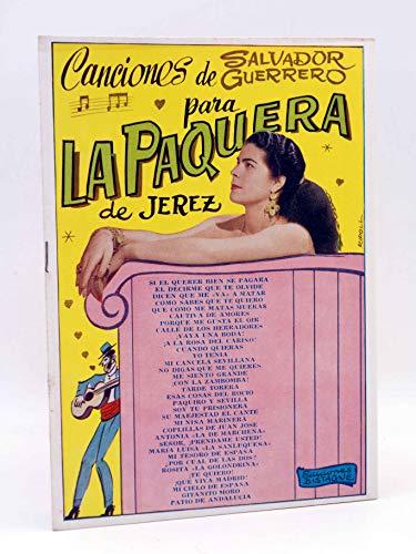 CANCIONERO. Canciones De Salvador Guerrero. Bistagne. Oferta