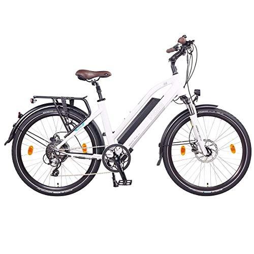 NCM Milano Plus Bicicletta elettrica da Trekking, 250W, Batteria 48V 16Ah 768Wh 26' Bianco