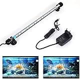 SolarNovo 18-112 cm LED Luz de acuario Iluminación subacuática Cubierta ligera superior Lámpara impermeable 5050 para tanque de peces con control remoto Cambio de color RGB (Azul & blanco, 1.8*37cm)