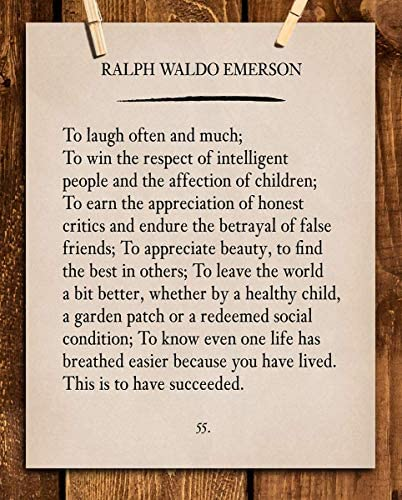 To Laugh Often and Much Ralph Waldo Emerson Poem Page Print 8 x 10 Poetic Wall Art Distressed product image