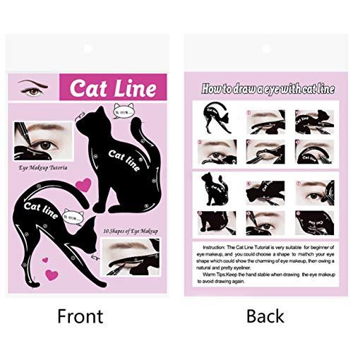 Frauen Cat Line Eye Makeup Eyeliner Einzigartige Schablonen Vorlagen Makeup Tools Kits für Augen...