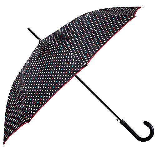 Bolero OMBRELLI - Ombrello da Pioggia Lungo Classico Antivento e Automatico di alta qualità - Apertura Automatica - Tessuto Pongee 190T - Uomo Donna