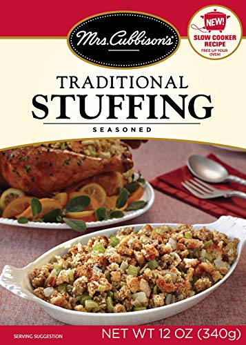 packaged stuffing side dishes Mrs. Cubbison's Traditional Stuffing Mix | 12 Ounce, Pack of 6 | Holiday Staple