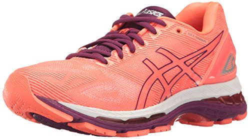 ASICS Damen Gel-Nimbus 19 Laufschuh, Flash Coral/Dark Purple/White, 37.5 EU