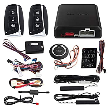 EASYGUARD EC002-HY-NS Smart Key PKE keyless Entry Remote Engine Start Stop Engine Start Stop Button Touch Password keypad Shock Warning