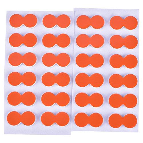 Alomejor 24Pcs Selbstklebende Schaumstoff Fliegenfischen Stick Strike Indikatoren(Orange)