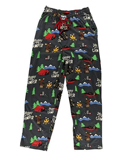 Image of Humorous Happy Camper Pajama Pants for Men - See More Designs