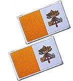 2pcs Vatican Flag...image