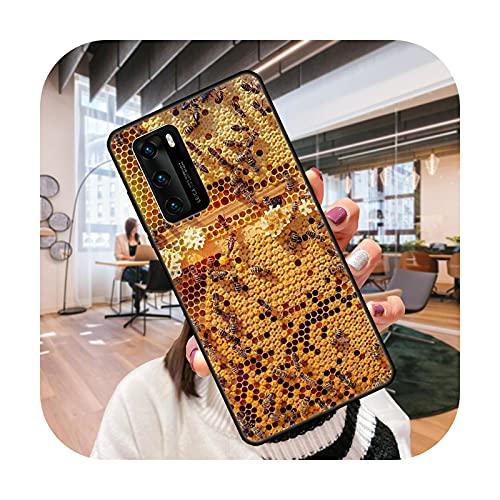 Funda de teléfono para Huawei P4 P10 P30 P20 Lite P Smart Z Pro negro cubierta Prime moda coque silicona Etui Flying animal abeja miel-S8-Huawei P20 Pro