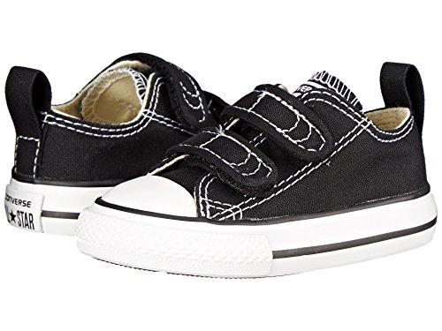 Converse Kids' Chuck Taylor 2v Ox (Infant/Toddler) (4 M US Toddler, 2V-Black)