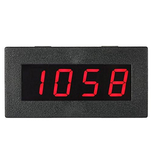 KKmoon 0,56 Pouce Tachymètre Numérique de Haute Précision avec LED à 4 Chiffres, Compteur de Vitesse du Moteur de Voiture, Compte-Tours RPM Mesure Testeur 5-9999R / M DC 8-15V-ROUGE
