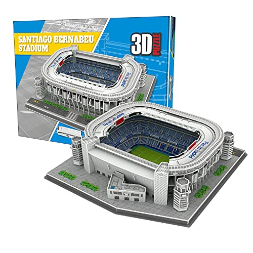 Georgie Porgy 3D Fußballstadion Puzzle DIY Spielzeug Bauen Baukästen (Bernabeu Stadium 101 Stück)