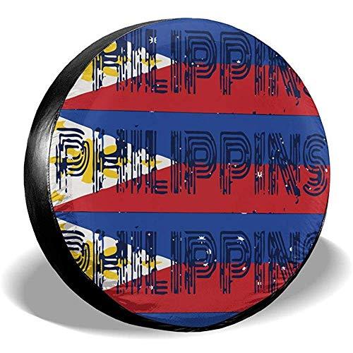 Alice Eva Phillipines Islands Vintage Flag Cubiertas de neumáticos Coche SUV Remolque...
