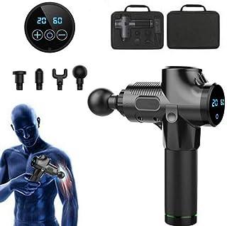 Zealite Massage Gun with 20 Speed Settings,Massager Handheld Deep Tissue Muscle Massager Gun with 4 Replaceable Attachment...
