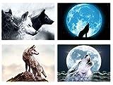 Juego de 4manteles individuales Lobo
