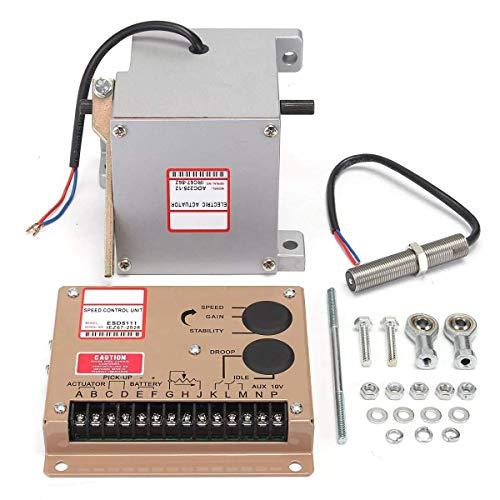 LONGWDS Controlador de Velocidad ADC225-12V Actuator MSP675 Sensor Speed Controller ESD5111E Controlador Generador Accesorios