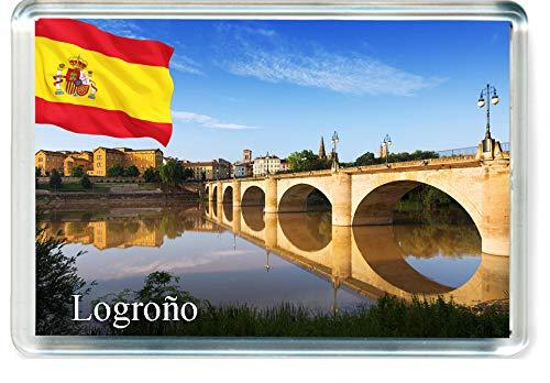 H323 Logroño Imán para Nevera Spain Travel Fridge Magnet