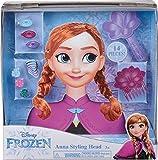 Smoby 7600320312 Tête de Coiffeur Frozen Anna pour Enfants à partir de 3 Ans Multicolore