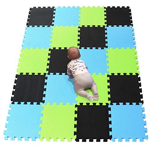 YIMINYUER Alfombra puzles para Bebe Puzzle Infantil Suelo Piezas Goma eva ninos de Suelo Grande Infantiles Negro Azul Pastoverde R04R07R15G301020