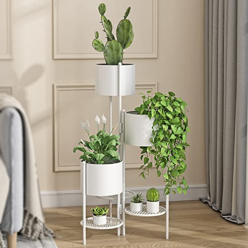 WUK Plant Stand Flower Holder, Collapsible Living Room Balcony Shelf 6 Layer Round Flower Metal Shelves Floor-standing Indoor outdoor Plant Pot Stand