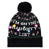 AIDEAONE Christmas Funny Party Hat Beanie cap Maglione Natalizio Brutti Cappelli Natalizi Regalo di Natale Nero