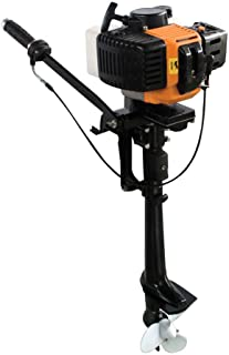 Outboard Motor, 3.5HP 2 Stroke Inflatable Heavy Duty Fishing Boat Engine Short Shaft CDI Air Cooling System(USA Stock)