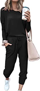 Women's 2 Piece Sport Outfits Long Sleeve Tops and Pants Set Sweatsuits