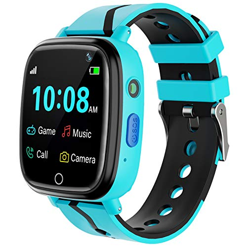 Kids Smart Watch for Boys Girls – Kids Smartwatch with Call 7 Games Music Player Camera SOS Alarm Clock Calculator 12/24 hr Touch Screen Children Smart Watch for Kids Age 4-12 Birthday Gifts