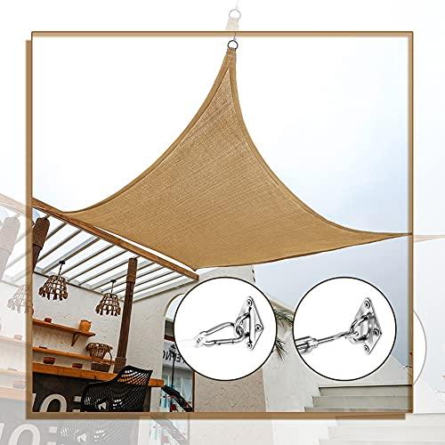 GAOYUY Toldo Vela De Sombra Impermeable, con Kit De Fijación Toldo con Protección Solar para Jardín Al Aire Libre Cuadrado/Rectángulo para Patio Y Cochera Fácil De Colgar (Color : Sand, Size : 5x8m)