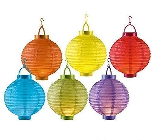 DRULINE 6er Set LED Papierlaterne Lampion Lampions Laterne Garten Ballon Papierlampion