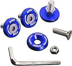 Upgr8 U8201-1003 Aluminum 10mm 4 Pieces Fender Washer Kit (Blue)