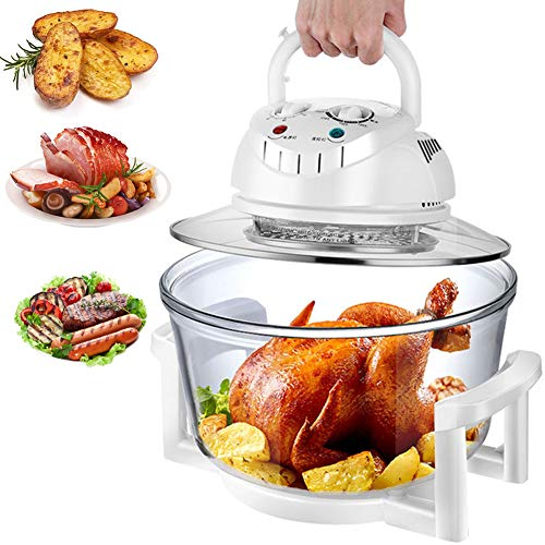 TTFGG 12L Friteuse Heissluft,1200W Kartoffelchips Maschine Fryer,Gesundheit Herd Ofen Low Fat Fryer,Haushalt Multi-Funktions-Smokeless Fritteuse