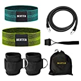 BERTER Resistance Bands Set, Booty Workout Exercise Hip Bands, Ankle Strap for Cable Machines, Leg...