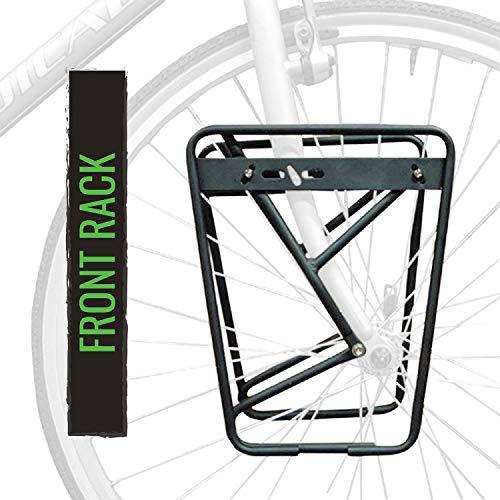 evo Low Rider Bike Front Rack - Black