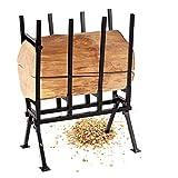 COSTWAY Chevalet de Sciage Chevalet pour Bois Chevalet de Tronçonnage Pliable Charge Max 200kg Noir