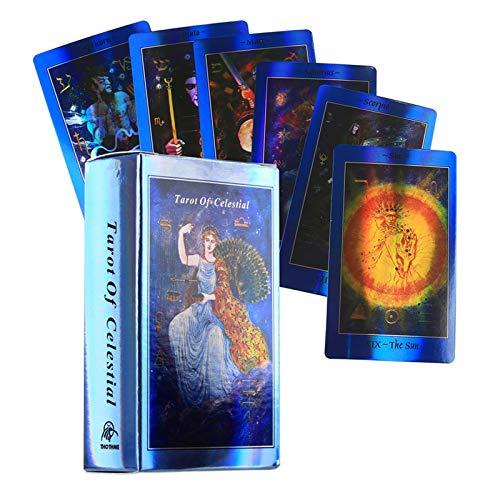 XZHU Himmel Tarot, EIN Kartenspiel für das Wahrsagen des zukünftigen Schicksals, 78 Deck-Brettspiele für Anfänger
