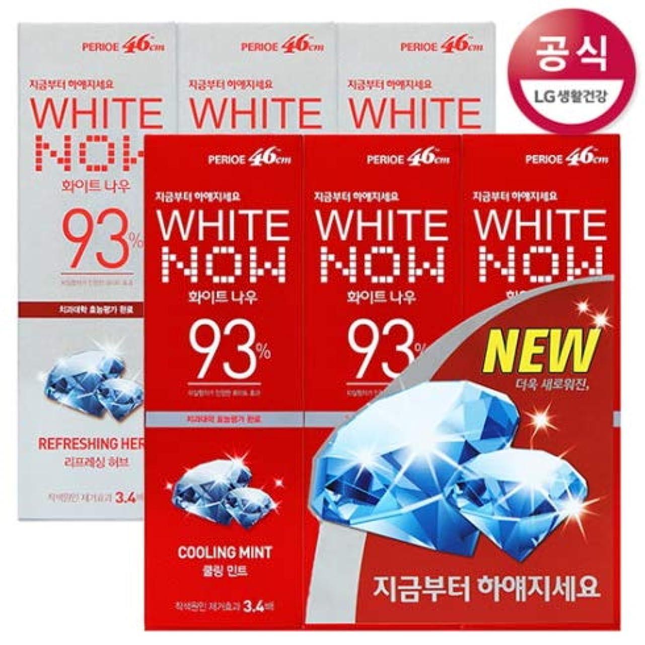 甲虫丁寧運ぶ[LG HnB] Perio White Nau Toothpaste/ペリオホワイトナウ歯磨き粉 100gx6個(海外直送品)