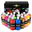 Magicfly 18 Colors Tempera Paint for Kids, Large Volume (380 ml/12.85 fl oz.) Washable Paint Set, Non-toxic & Kids Safe Finger Paint, Ideal for Posters, Arts and Crafts, School Projects