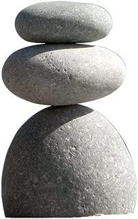 Garden Decoration Outdoor Stone, Natural River Stone Triple Rock Cairn 3 Stacked Zen Garden Pile Stone