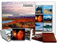 DA CHOCOLATE キャンディスーベニア アラスカ州 チョコレートギフトセット 13x13cm 1箱 (山々)