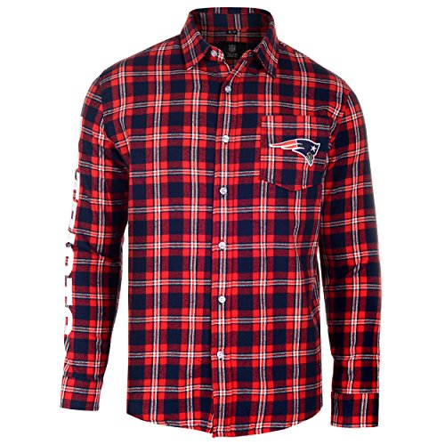 New England Patriots Wordmark Basic Flannel Shirt Double Extra Large